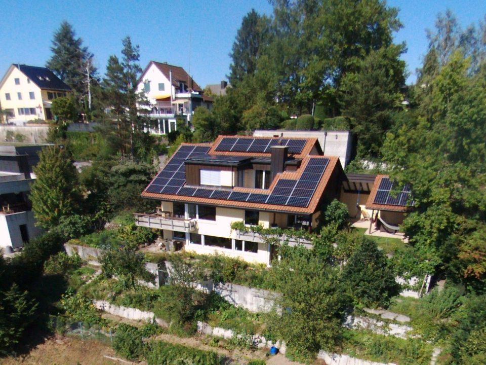 Solaranlage an einem EFH