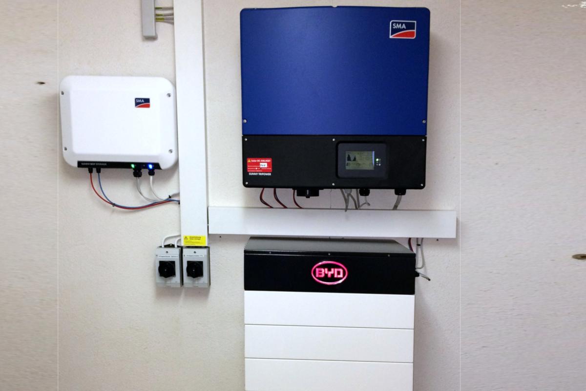 SMA Wechselrichter mit BYD Batterie