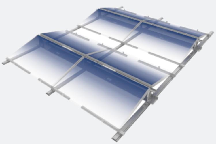Technische Zeichnung Flachdachsystem
