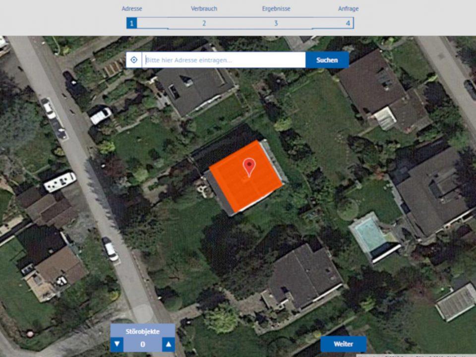 Googlebild mit Hausdach